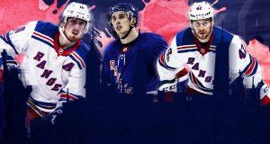 Marc Staal, Brady Skjei, Brendan Smith, New York Rangers