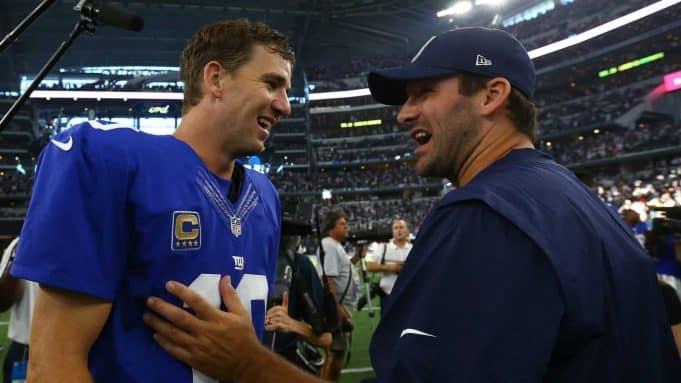 Eli Manning, Tony Romo