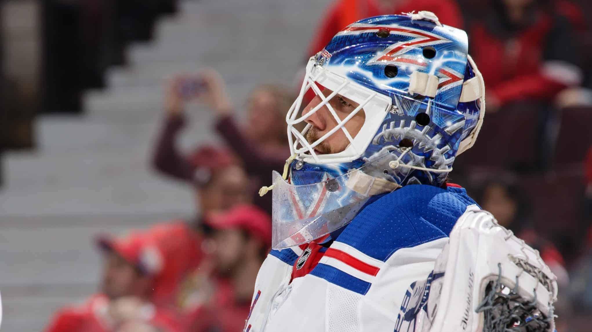 New York Rangers Henrik Lundqvist pulled again
