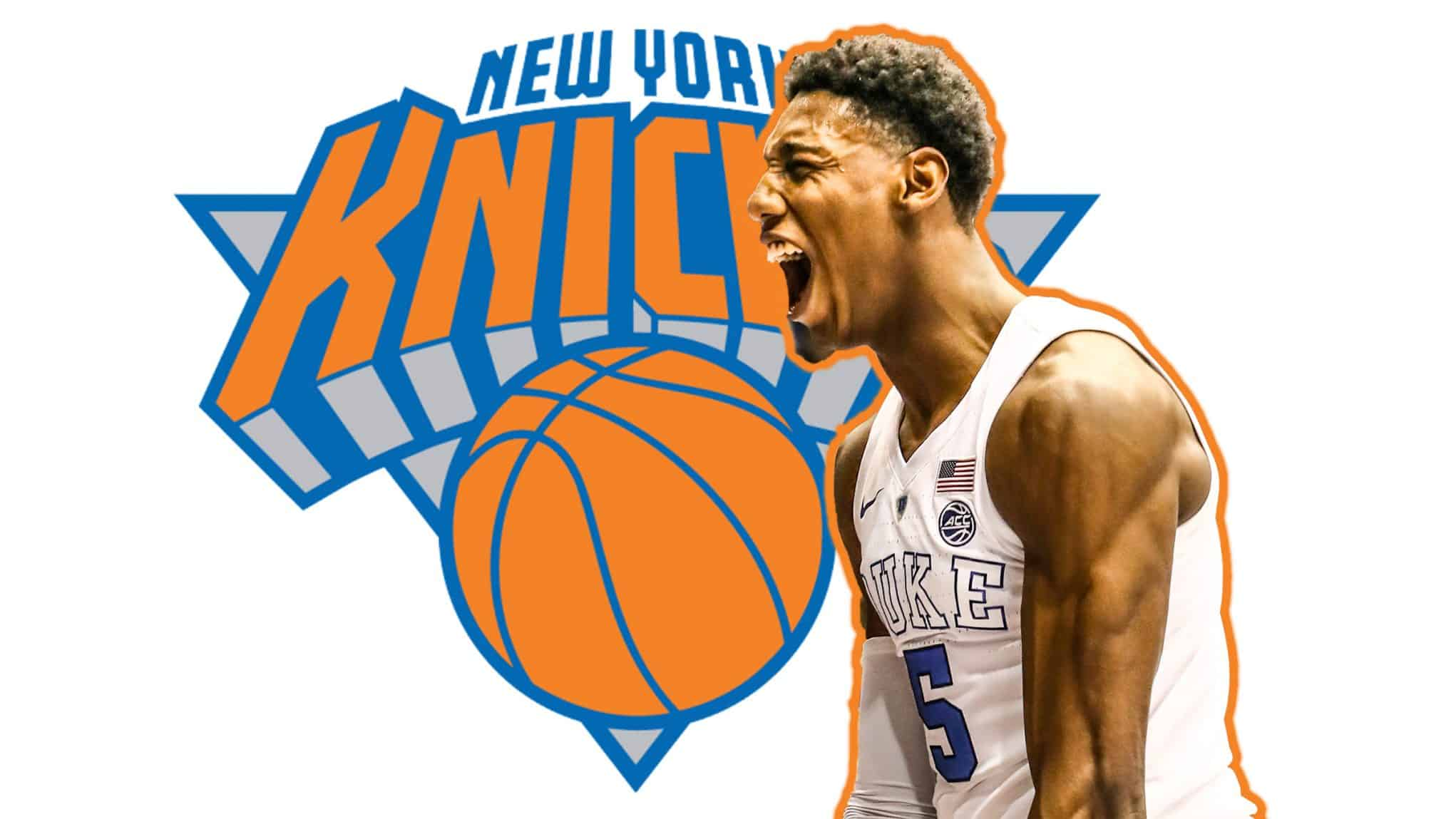 R.J. BARRETT IN A KNICKS JERSEY