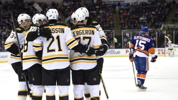 Boston Bruins, New York Islanders, Cal Clutterbuck, Goal Against, Nassau Coliseum