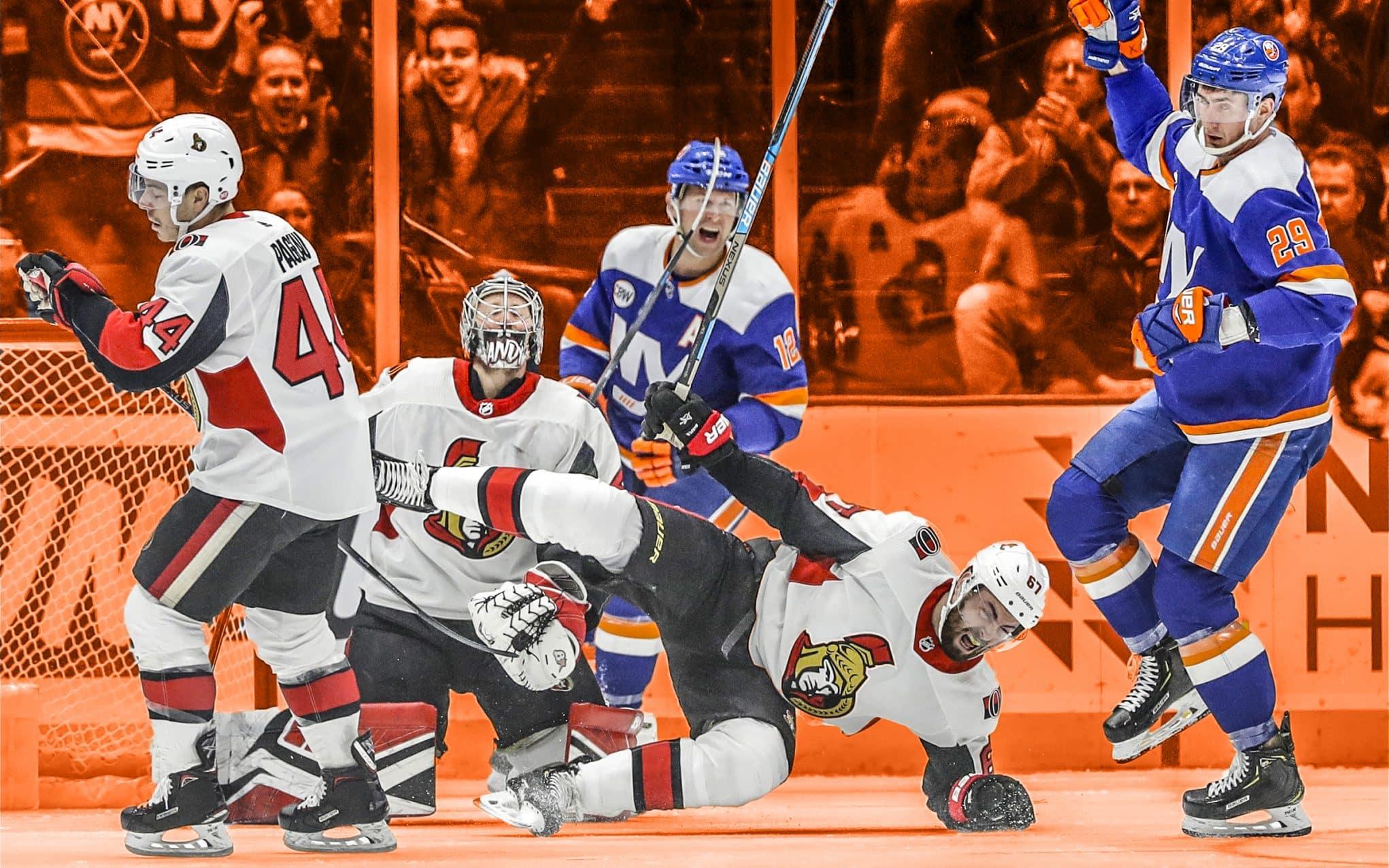 7ac1cbd94eb Valtteri Filppula nets pair in New York Islanders  frantic 4-2 win over  Senators (Highlights)