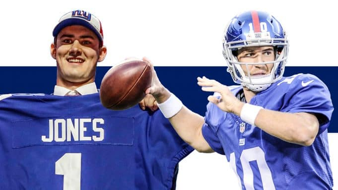Daniel Jones Eli Manning