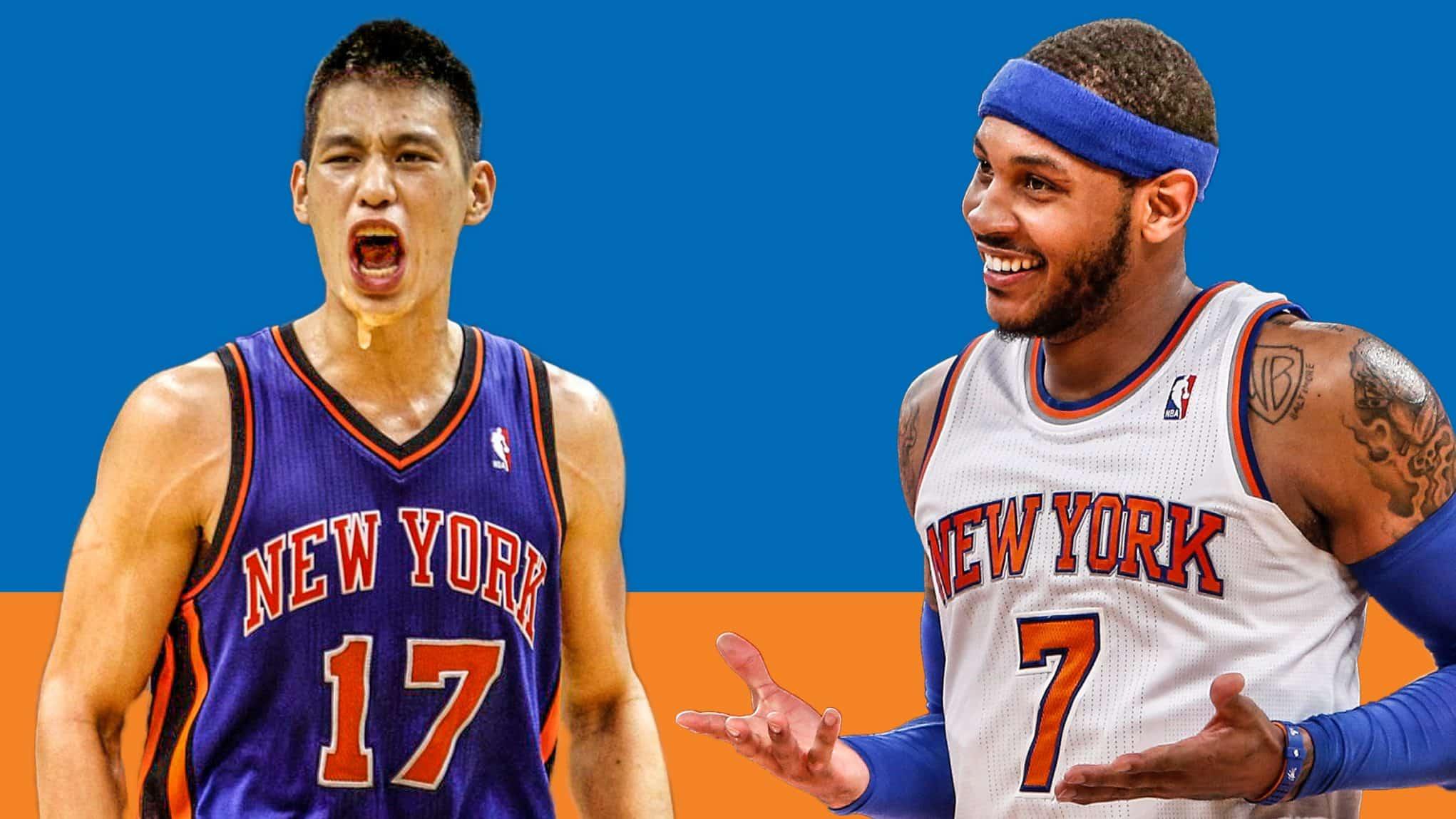Jeremy Lin Carmelo Anthony