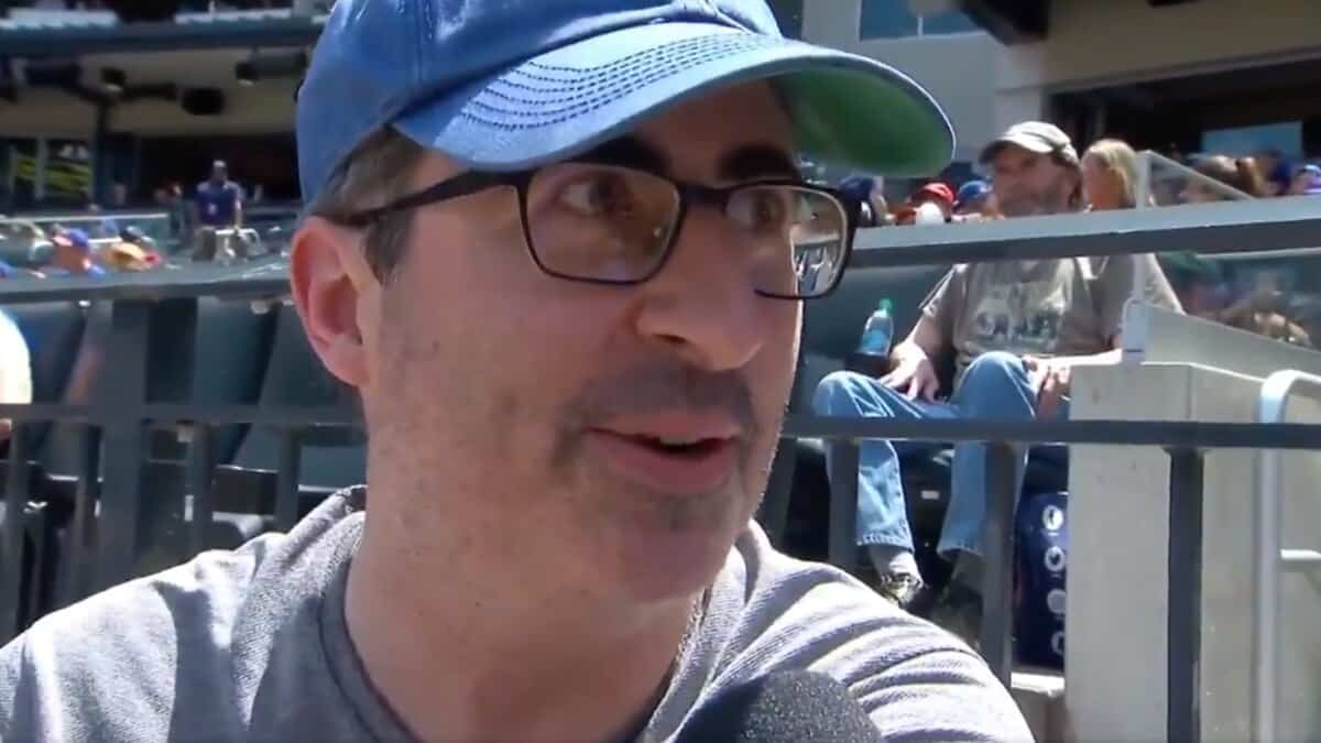 John Oliver on rooting for New York Yankees: 'Wrong thing to do morally'