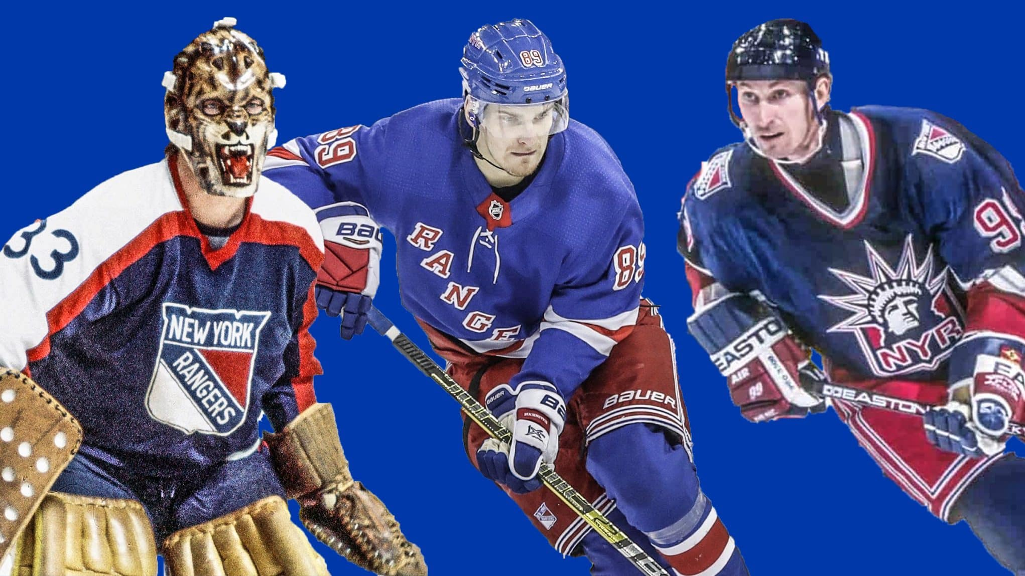 super popular c036f 0aee2 The evolution of the New York Rangers magnificent uniform