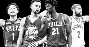 D'Angelo Russell, Stephen Curry, Joel Embiid, Kyrie Irving