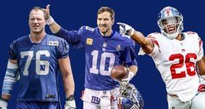 Nate Solder, Eli Manning, Saquon Barkley