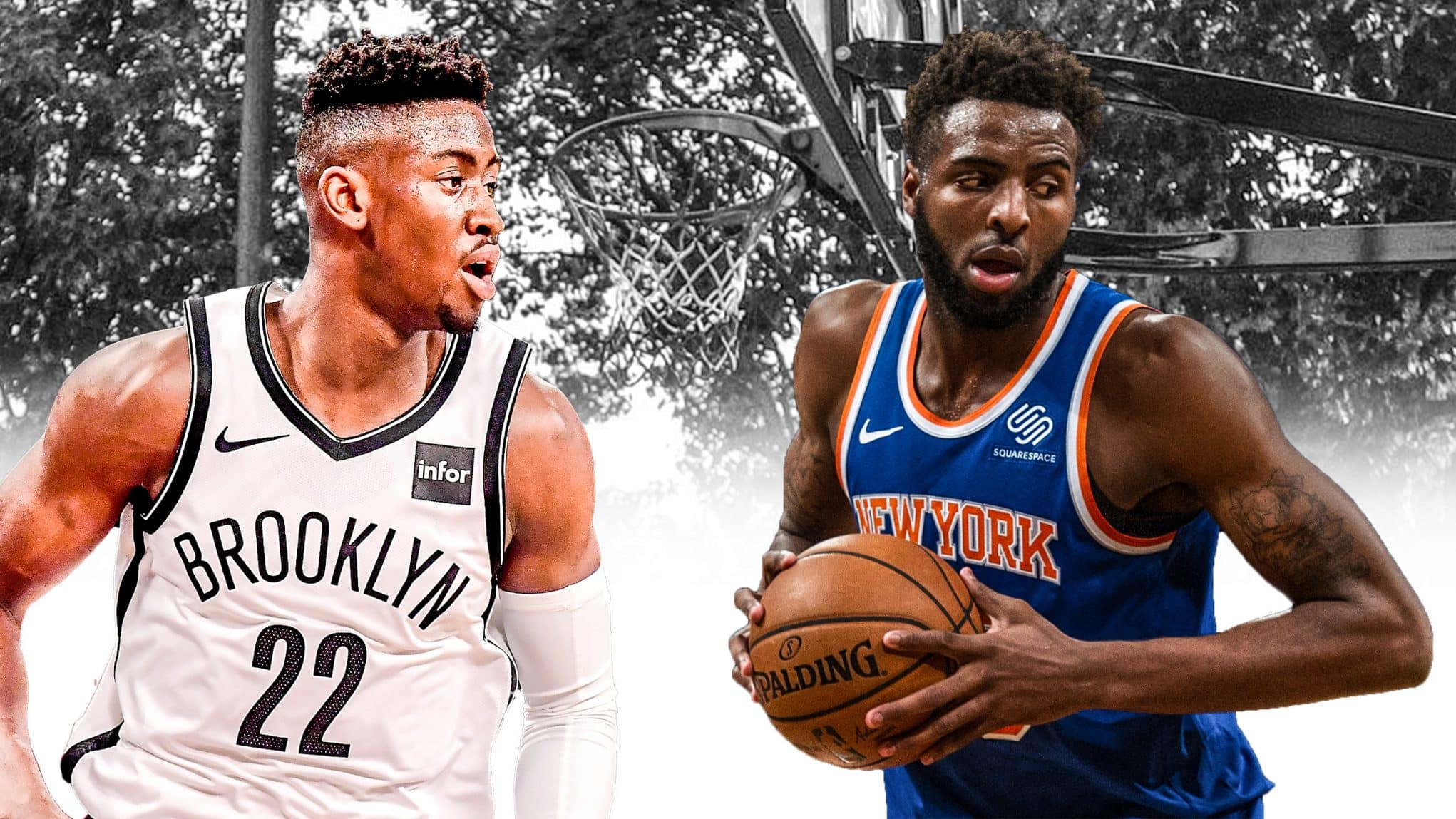 best sneakers e2280 05250 New York Knicks & Brooklyn Nets mixed roster: The starting 5