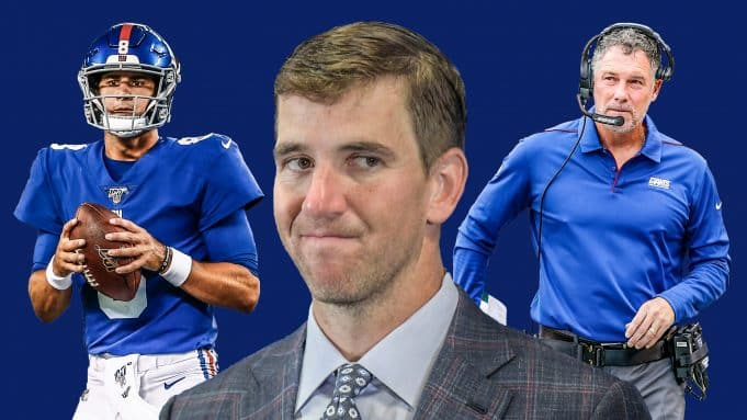 Eli Manning, Daniel Jones, Pat Shurmur