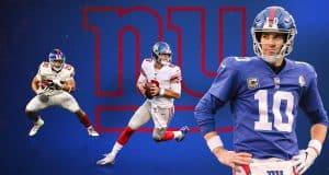 Saquon Barkley, Daniel Jones, Eli Manning