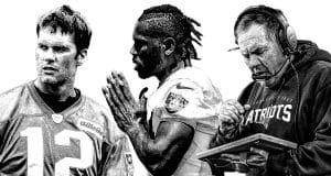 Tom Brady, Antonio Brown, Bill Belichick