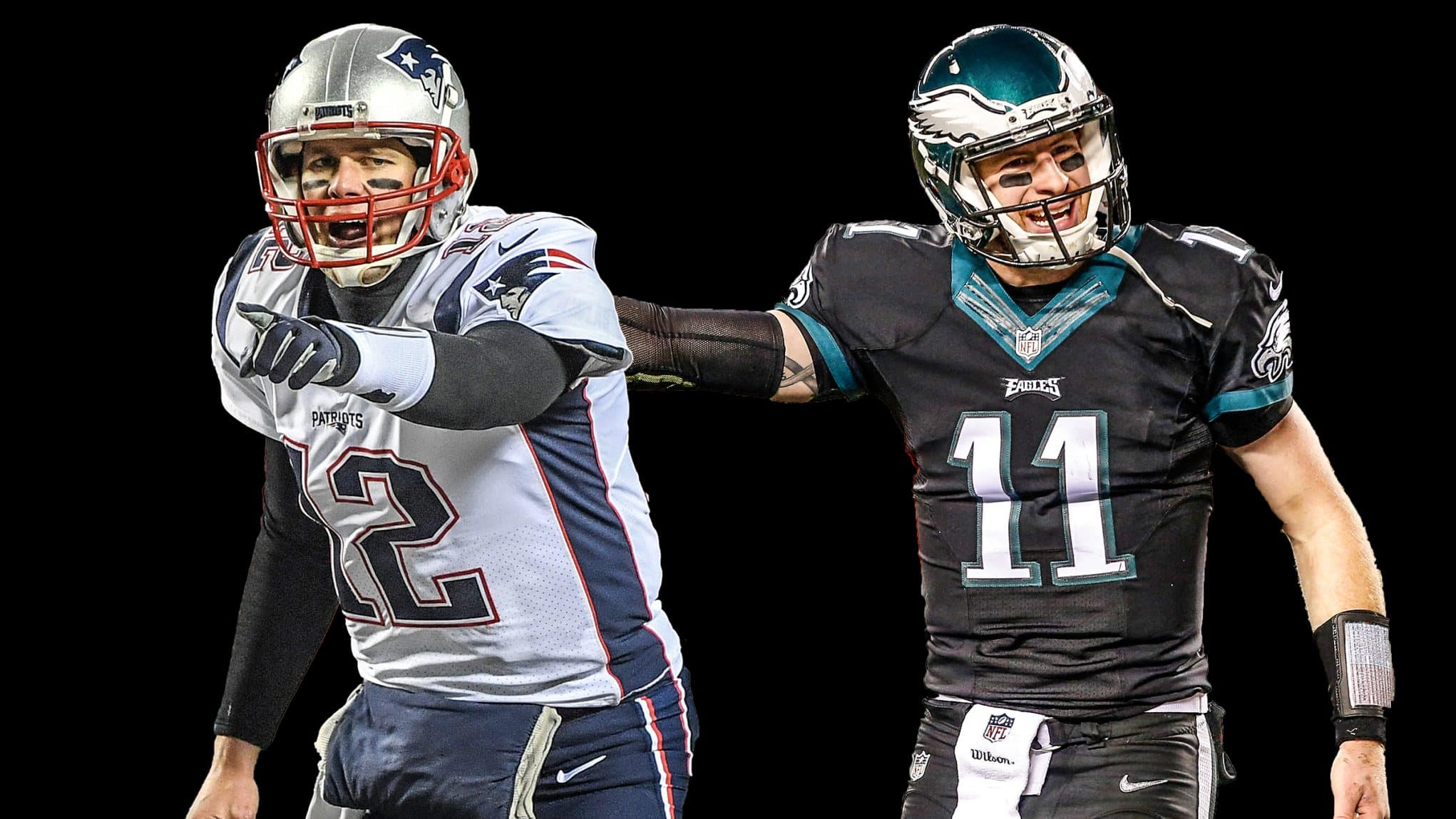 Tom Brady, Carson Wentz