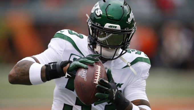 New York Jets strong safety Jamal Adams practices before an NFL football game against the Cincinnati Bengals, Sunday, Dec. 1, 2019, in Cincinnati.