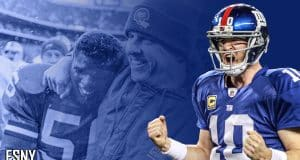 Eli Manning, Lawrence Taylor Bill Pacells