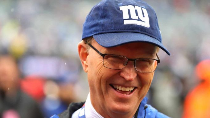 EAST RUTHERFORD, NJ - SEPTEMBER 09: President, CEO and co-owner of the New York Giants John Mara looks on during warm ups before the game against the Jacksonville Jaguars at MetLife Stadium on September 9, 2018 in East Rutherford, New Jersey.