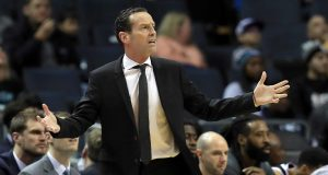 CHARLOTTE, NORTH CAROLINA - DECEMBER 06: Head coach Kenny Atkinson of the Brooklyn Nets watches on against the Charlotte Hornets during their game at Spectrum Center on December 06, 2019 in Charlotte, North Carolina. NOTE TO USER: User expressly acknowledges and agrees that, by downloading and or using this photograph, User is consenting to the terms and conditions of the Getty Images License Agreement.