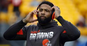 PITTSBURGH, PA - DECEMBER 01: Odell Beckham #13 of the Cleveland Browns warms up before the game against the Pittsburgh Steelers on December 1, 2019 at Heinz Field in Pittsburgh, Pennsylvania.