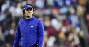 LANDOVER, MD - DECEMBER 22: Head coach Pat Shurmur of the New York Giants looks on from the sideline in the second half against the Washington Redskins at FedExField on December 22, 2019 in Landover, Maryland.