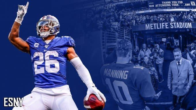Saquon Barkley, Eli Manning