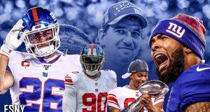 Saquon Barkley, Jason Pierre-Paul, Victor Cruz, Odell Beckham Jr., Eli Manning