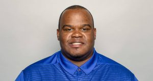 This is a 2018 photo of Lunda Wells of the New York Giants NFL football team. This image reflects the New York Giants active roster as of Friday, April 27, 2018 when this image was taken.