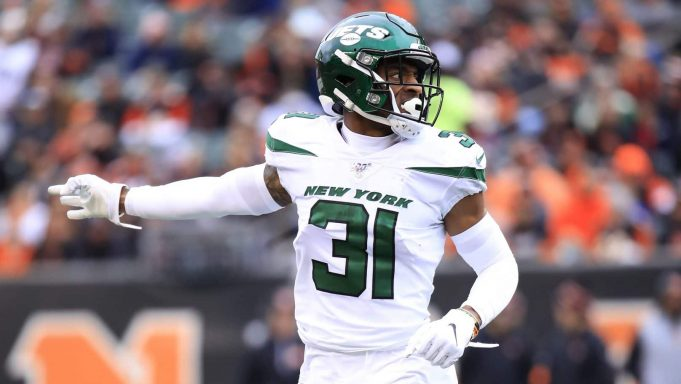 CINCINNATI, OHIO - DECEMBER 01: Bless Austin #31 of the New York Jets in the game against the Cincinnati Bengals at Paul Brown Stadium on December 01, 2019 in Cincinnati, Ohio.