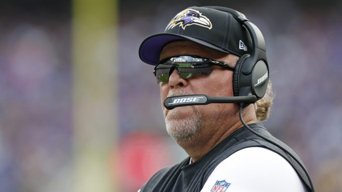 BALTIMORE, MARYLAND - SEPTEMBER 29: Baltimore Ravens Defensive Coordinator Don Martindale looks on from the sidelines during the first half against the Cleveland Browns at M&T Bank Stadium on September 29, 2019 in Baltimore, Maryland.