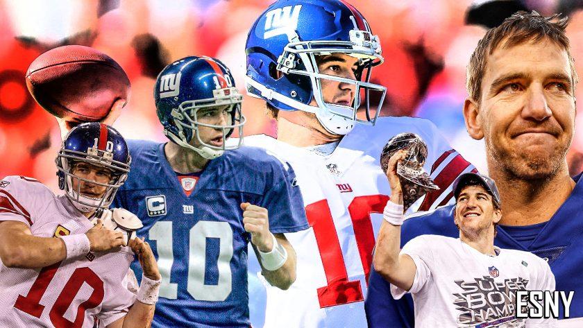 Eli Manning NY Giants American Football Shirt Elite NFL Jersey