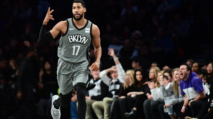 NEW YORK, NEW YORK - DECEMBER 21: Garrett Temple #17 of the Brooklyn Nets reacts after a basket in the second half of their game against the Atlanta Hawks at Barclays Center on December 21, 2019 in New York City. NOTE TO USER: User expressly acknowledges and agrees that, by downloading and or using this photograph, User is consenting to the terms and conditions of the Getty Images License Agreement.