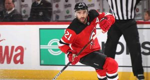NEWARK, NEW JERSEY - DECEMBER 18: Kyle Palmieri #21 of the New Jersey Devils skates against the Anaheim Ducks at the Prudential Center on December 18, 2019 in Newark, New Jersey.
