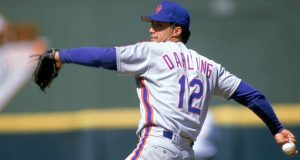 1988: Ron Darling of the New York Mets winds back to pitch during a game in the 1988 season.