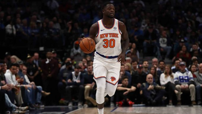 DALLAS, TEXAS - NOVEMBER 08: Julius Randle #30 of the New York Knicks at American Airlines Center on November 08, 2019 in Dallas, Texas.
