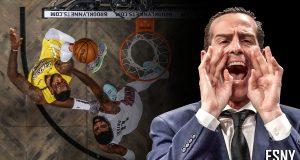 Kenny Atkinson, Kyrie Irving, LeBron James