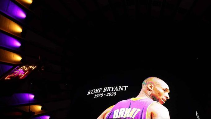 NEW YORK, NEW YORK - JANUARY 26: A moment of silence is held for former Los Angeles Laker great Kobe Bryant before the game between the New York Knicks and the Brooklyn Nets at Madison Square Garden on January 26, 2020 in New York City.Bryant died in a helicopter crash early this morning.NOTE TO USER: User expressly acknowledges and agrees that, by downloading and or using this photograph, User is consenting to the terms and conditions of the Getty Images License Agreement.