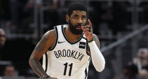 Kyrie Irving's maligned season in Brooklyn hit a high note on Saturday.