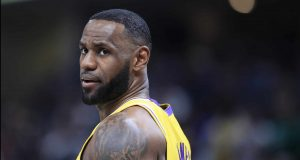 INDIANAPOLIS, INDIANA - DECEMBER 17: LeBron James #23 of the Los Angeles Lakers during the game against the Indiana Pacers at Bankers Life Fieldhouse on December 17, 2019 in Indianapolis, Indiana. NOTE TO USER: User expressly acknowledges and agrees that, by downloading and or using this photograph, User is consenting to the terms and conditions of the Getty Images License Agreement.