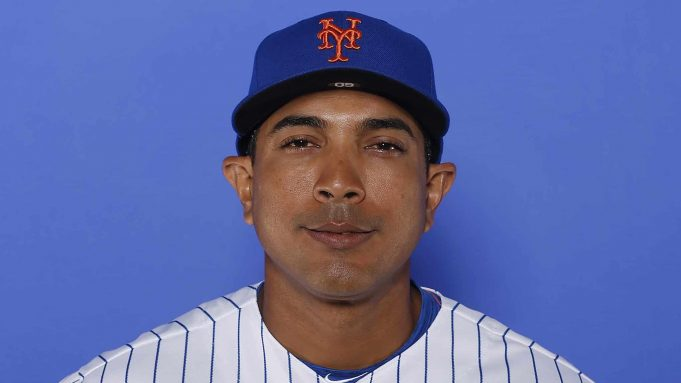 PORT ST. LUCIE, FLORIDA - FEBRUARY 21: Luis Rojas #60 of the New York Mets poses for a photo on Photo Day at First Data Field on February 21, 2019 in Port St. Lucie, Florida.