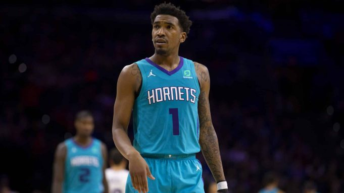 PHILADELPHIA, PA - NOVEMBER 10: Malik Monk #1 of the Charlotte Hornets looks on against the Philadelphia 76ers at the Wells Fargo Center on November 10, 2019 in Philadelphia, Pennsylvania. The 76ers defeated the Hornets 114-106. NOTE TO USER: User expressly acknowledges and agrees that, by downloading and/or using this photograph, user is consenting to the terms and conditions of the Getty Images License Agreement.