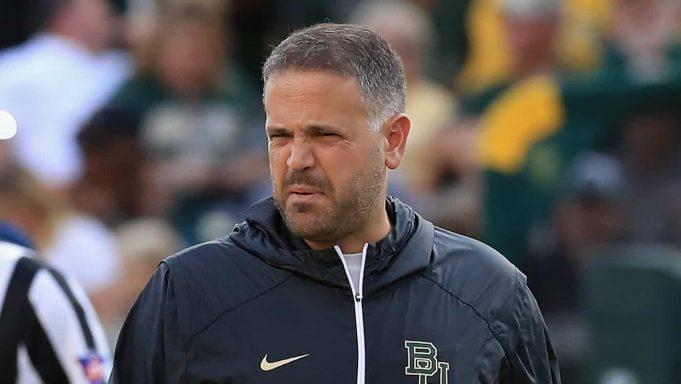 WACO, TX - SEPTEMBER 09: Head coach Matt Rhule of the Baylor Bears before a game against the UTSA Roadrunners at McLane Stadium on September 9, 2017 in Waco, Texas.