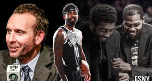 Sean Marks, Kyrie Irving, Kevin Durant