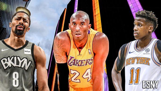 Spencer Dinwiddie, Kobe Bryant, Frank Ntilikina