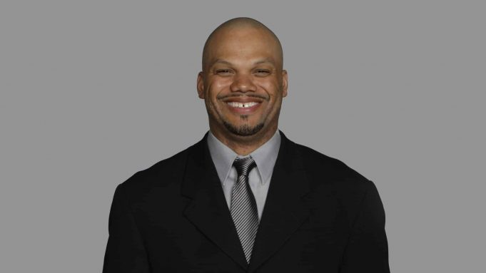 EAST RUTHERFORD, NJ - CIRCA 2010: In this handout image provided by the NFL, Thomas McGaughey of the New York Giants poses for his 2010 NFL headshot circa 2010 in East Rutherford, New Jersey.