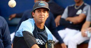 New York Yankees prospect Deivi Garcia while with the Trenton Thunder