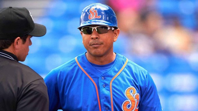 New York Mets manager Luis Rojas when he managed the Port St. Lucie Mets.