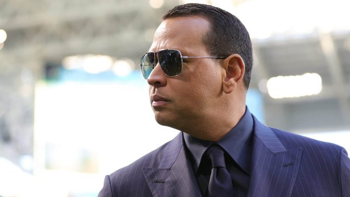 MIAMI, FLORIDA - FEBRUARY 02: Former baseball player Alex Rodriguez looks on before Super Bowl LIV at Hard Rock Stadium on February 02, 2020 in Miami, Florida.