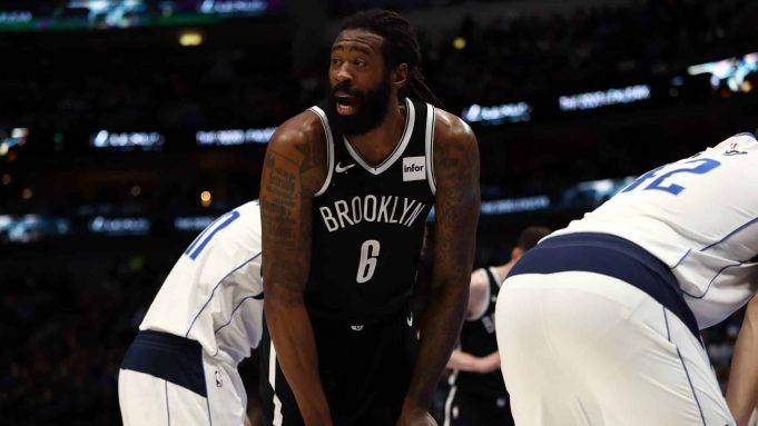 DALLAS, TEXAS - JANUARY 02: DeAndre Jordan #6 of the Brooklyn Nets at American Airlines Center on January 02, 2020 in Dallas, Texas. NOTE TO USER: User expressly acknowledges and agrees that, by downloading and or using this photograph, User is consenting to the terms and conditions of the Getty Images License Agreement.