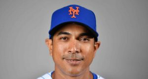 PORT ST. LUCIE, FLORIDA - FEBRUARY 20: Manager Luis Rojas #19 of the New York Mets poses for a photo during Photo Day at Clover Park on February 20, 2020 in Port St. Lucie, Florida.
