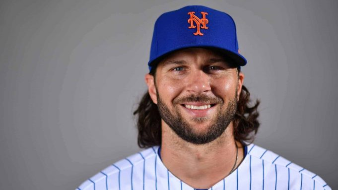 PORT ST. LUCIE, FLORIDA - FEBRUARY 20: Jake Marisnick #16 of the New York Mets poses for a photo during Photo Day at Clover Park on February 20, 2020 in Port St. Lucie, Florida.