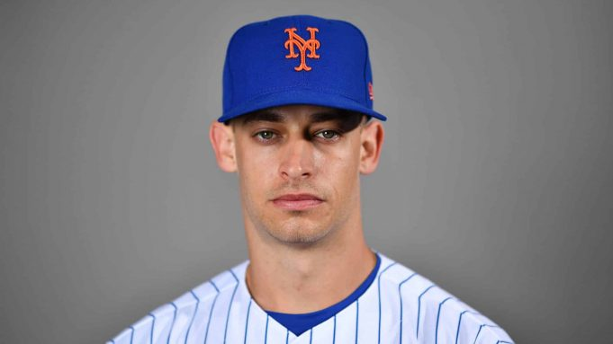 PORT ST. LUCIE, FLORIDA - FEBRUARY 20: Max Moroff #33 of the New York Mets poses for a photo during Photo Day at Clover Park on February 20, 2020 in Port St. Lucie, Florida.